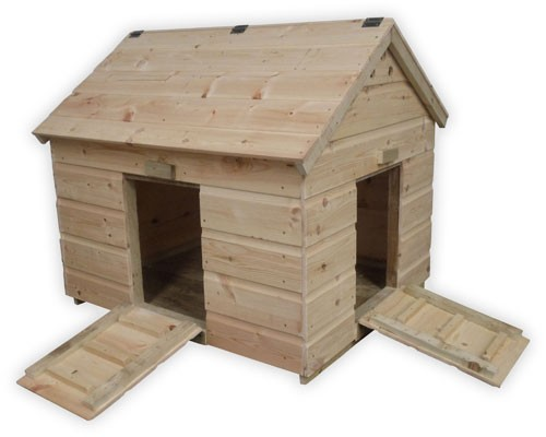 Large duck house with extra door for Duck house door size