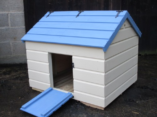Large duck house 100x80x85 pastel colours for Duck house door size