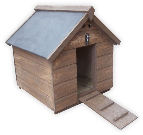Wooden duck house rubberoid roof for Duck and goose houses